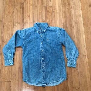 Youth Polo Ralph Lauren Long Sleeve Denim Shirt 6